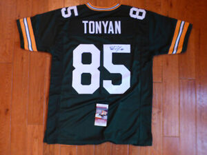 Robert Tonyan Signed Packers Custom Jersey Size XL JSA