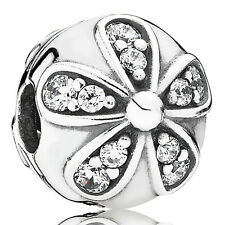 PANDORA Charm Clip Element 791493 CZ Blume Silber Bead