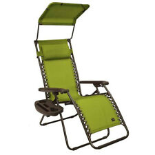 Bliss Hammocks GFC-437D 26 Inch Zero Gravity Chair with Canopy and Tray, Green