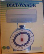 1 x Küchenwaage Diätwaage  bis 1000 gr.Transparent in Blau und Grün