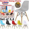 2 4 pcs Chair Plastic Designer Style Dining Chairs Retro Lounge Office home