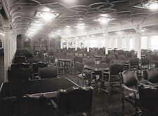 "1912 RMS Titanic First Class Dining Room White Star Line-17""x22"" Art Print-00179"