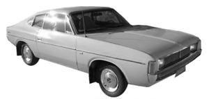 CHRYSLER VALIANT VJ GLASS SIDE AND REAR 5PC SET COUPE CLEAR -J&M Old Skool Parts