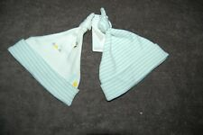M&S 2 Knotted Pull On Baby Hats Aqua Mix Up to 1 Month BNWT