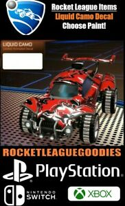 Rocket League Items - Liquid Camo Moving Decal - PS4 - PS5 - XBOX ONE - Switch