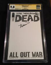 Walking Dead #115 SIGNED Robert Kirkman blank sketch variant CGC SS 9.8 AMC tv