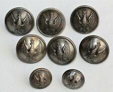 WW2 Polish Army buttons made in Gaunt London