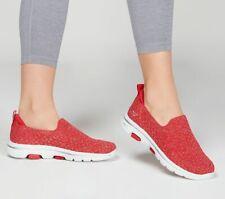 Skechers Red Women Shoes Go Walk 5 Casual Slip On Comfort Sporty Soft Mesh 15911