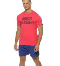 Asics Men's Ss Graphic Top Shirt Pink 131446 New Size S
