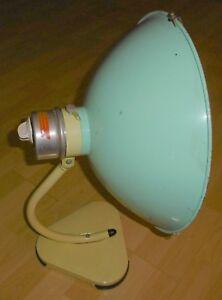 arzt tisch /wand lampe wärme alt top deko mint / gelb thermolite super 60 / 70er