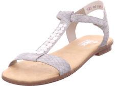 Rieker Damen  Sandale Sandalette grau