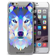 Coque Housse Etui Pour iPhone 6 Plus 5.5 Polygon Animal Rigide Fin  Loup