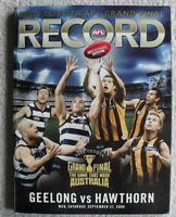 Geelong Cats Hawthorn Hawks 2008 AFL Football Grand Final Record Program Footy