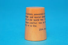 """""""Never in the Field of Human Conflict"""" Churchill Speech Wood Thimble B/78"""
