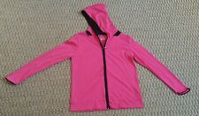 Under Armour womens pink loose fit heat gear light weight hooded jacket size M