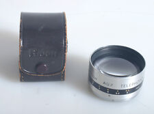 RICOH AUX TELEPHOTO LENS 4.5CM F1.9 IN LEATHER CASE