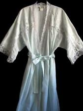 Miss Dior Vintage Long Robe Cotton Blend Lace & Embroidered Pale Green W-M Robe