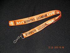 LIGABUE LIVE 2003 ITALIAN MUSIC CATANIA SICILY CONCERT LANYARD ORANGE BLACK