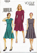 VOGUE SEWING PATTERN 8848 MISSES SZ 6-14 FLARED DRESSES WITH FITTED BODICE