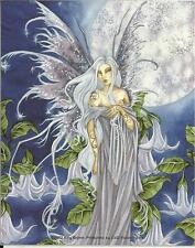 """AMY BROWN FAIRY FAERY STICKER DECAL """"MOON""""  FROM 2002"""