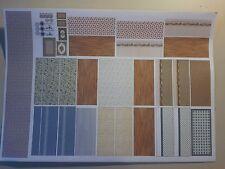 Only wallpaper  Tapete Fußoden für Puppenhaus  1/144 zB für  H16095  Haus
