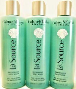 Crabtree & Evelyn LA SOURCE Refreshing Body Wash, 8.5 fl. oz/250 mL, NEW x 3