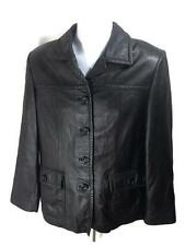 Paradox Womens Size M Black Leather Casual Coat Jacket  #T1