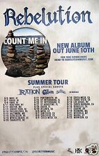 """REBELUTION / IRATION / THE GREEN """"COUNT ME IN SUMMER TOUR 2014"""" CONCERT POSTER"""