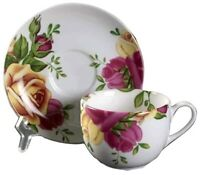Royal Albert NEW COUNTRY ROSES TEA CUPS & SAUCERS SET OF 4 NEW