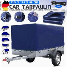 Hochplane für Stema Pkw-Anhänger - F 750 DBL 750 850 blau - Baumarktanhänger DHL