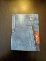 "1996 Zippo Lighters Denim Red Tab Series Watch Pocket ""box only"" no lighter"