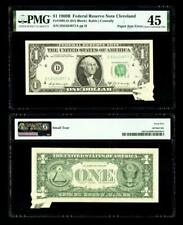 Paper Jam Error Fr. 1905-D $1 1969B Federal Reserve Note. Pmg Extremely Fine 45