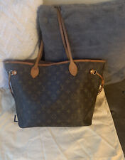 Authentic Louis Vuitton Neverfull Monogram Canvas MM Tote Bag Handbag Satchel