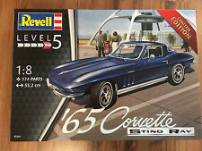 Revell 07434 Chevrolet Corvette Stingray 1965 KIT de montage 1:8, KIT, limité
