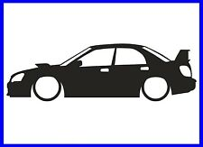 Subaru Impreza silueta Decal Sticker