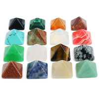 10pcs/Lot Square Pyramid Natural Stone Cabochon Beads 8mm for DIY Jewelry Making