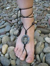 Tribal Gypsy Bo-Ho Bohemian Lady Buddha Beaded Barefoot Sandals Foot Jewellery