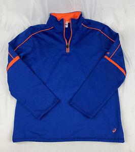 Asics Quarter Zip Pullover running workout long sleeve Technical shirt YOUTH XL