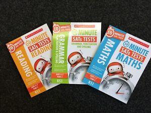 Scholastic 10 Minute SATs Tests Set - Reading, Grammar, Maths Year 2 KS1