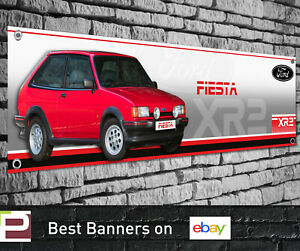 Ford Fiesta XR2i Mk2 RED Banner for Workshop, Garage, Showroom etc