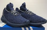 Adidas Mens Size 9.5 Tubular Doom Sock Primeknit Indigo Blue Athletic Shoes New