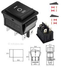 Wippschalter EIN-AUS-EIN Schalter Einbauschalter einrastend Einschalter #115