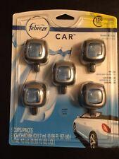 5 Febreze Car Vent Clips, Air Freshener,Eliminates Ordors, Scent: Linen & Sky,