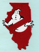 Illinois State - Embroidered Ghostbusters No Ghost Iron-on Patch