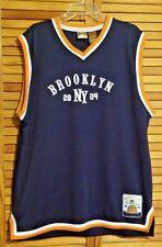 BROOKLYN NY JERSEY 2004 GEAR 7 ATHLETIC SPORTSWEAR BLUE ORANGE WHITE XL