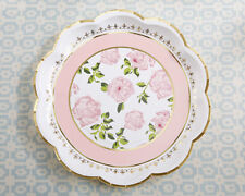 Set of 24 Pink Tea Time Whimsy Paper Plates Bridal Shower Tea Party Decorations