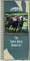 TIZNOW IN 2001 SANTA ANITA HANDICAP HORSE RACING PROGRAM! SANTA ANITA PARK!