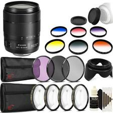 Canon EF-S 18-135mm f/3.5-5.6 IS USM Lens and Ultimate Bundle for T6i T6s 80D 7D