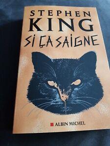 Stephen King / Si Ca Saigne / Livre Neuf