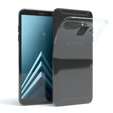 Ultra Slim Cover für Galaxy A6 (2018) Case Silikon Hülle Transparent Transparent